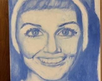 The Hollywood Habit Series - Julie Andrews, original oil on canvas by Bert Ulrich