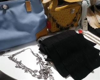Handbags, jewelry, scarves, belts!