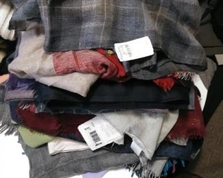 Loro Piana scarves, Akris scarves, Brunello Cucinelli scarves! Retail for $800-$1800!