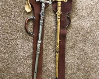 Antique Mason Masonic Knights swords.