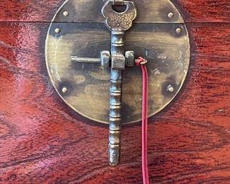 Asian lap/writing box on custom rosewood base. Photo 2 of 3