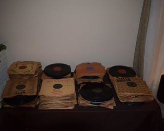 LARGE Collection of 78 records