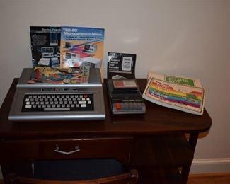 Radio Shack TRS 80 Color computer with cassette, manuals, comics, advertisements and more