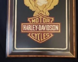 Harley Davidson Inlaid wood sign made in Sorrento, Italy