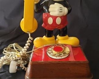 Mickey Mouse Rotary Dial Phone