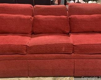 Traditional Red Upholstery Sofa