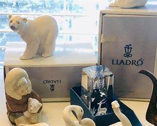 Various Lladro figurines.
