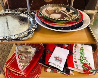 Christmas decor and entertaining serveware