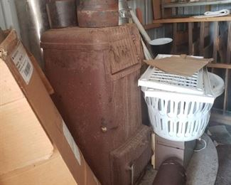 """Rare """"Warm Morning"""" Coal & Wood Burning Stove It is currently included in our Fixed Price Sale for only $200. https://ctbids.com/#!/description/share/872264"""