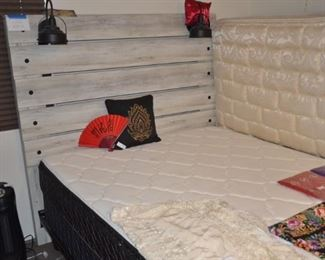 queen size bedroom set plus another mattress box spring and frame