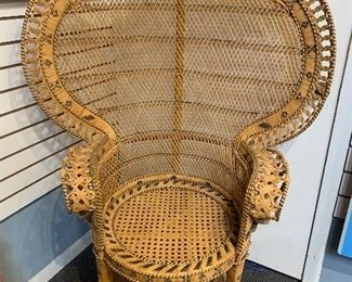 Wicker peacock chair starting at $100
