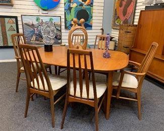 Danish teak dining table starting at $400