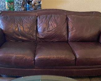 TM9337 Vintage Leather Sofa Plush -