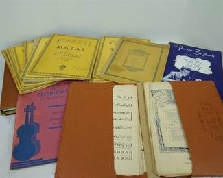 Various violin sheet music- most are vintage