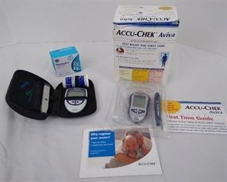 2 Accu-check diabetes monitoring kits and glucose test strips