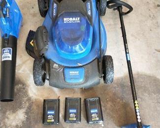 Kobalt 40volt lawn equipment