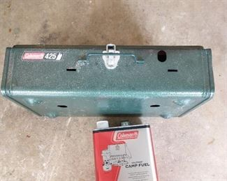 Coleman gas stove with fuel