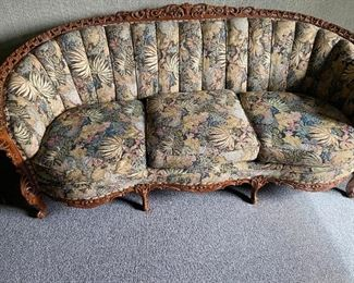 Hand carved antique couch circa 1920.