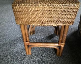 Rattan and wicker foot stool