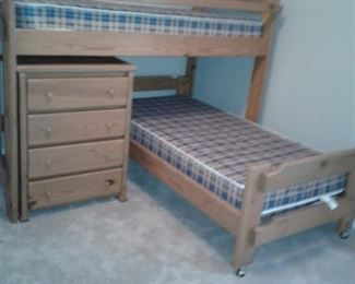 Twin Solid Wood Bunk Beds - Linens are also Available
