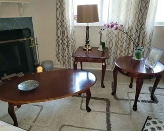 3 Queen Anne Tables (Coffee and 2 end tables)
