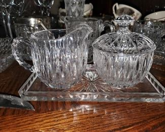 Lead Crystal and cut glass items