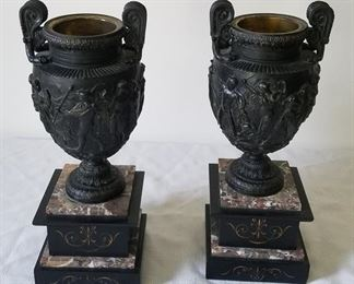 Antique Italian Grand Tour bronze urns