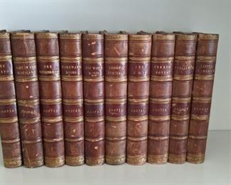 Antique J. Fenimore Cooper books, 1830s