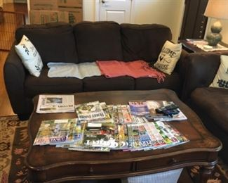 SOLID WOOD COFFEE LARGE TABLE, ALSO SIZED FOR SOFA SECTIONAL