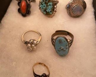 Vintage Jewelry, Rings