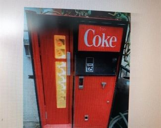 vintage coke machine: can load cans or bottles