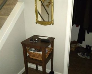 Antique table small & Mirror