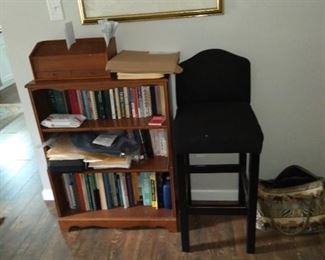Bookcase and Bar Chair