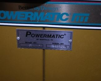 POWERMATIC  Shaper Machine - Model 27 with Mobile Base Option Installed. Made in McMinnville , Tennessee, USA