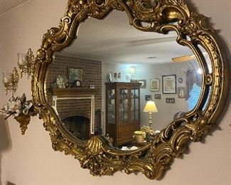 1960s large ornate mirror