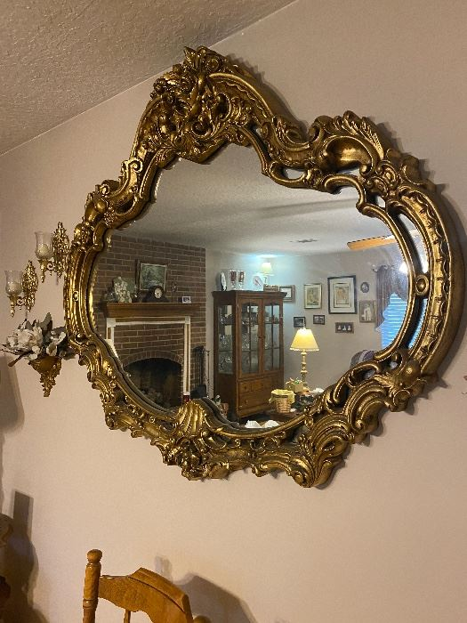 1960s large ornate mirror