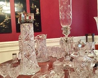Loads of American Brilliant Period cut glass