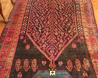 Fantastic all wool wide runner - early 20th century - unusual colours - Heriz