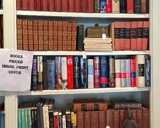 Hundreds of books - many in great sets with great decorator possibilities - lots of contemporary novels