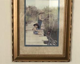 Boys fishing wall aer