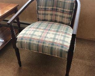 Nice plaid side chair