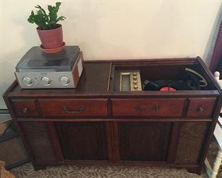 "Magnavox Micromatic Stereo Cabinet, 45"" long x 26"" high x 16.5"" deep"