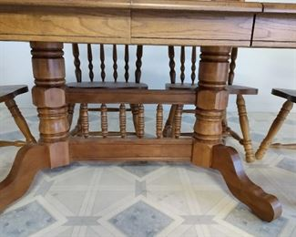 Solid wood table & 6 chairs/sold together or deperate
