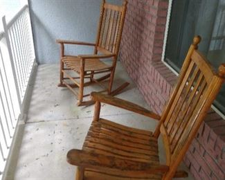 wooden rockers perfect for our  evenings
