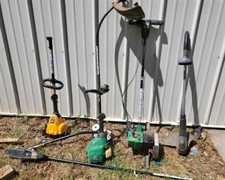 Lot of Yard Tools. Electric Black and Deck Weed Eater. other Tools Need New Lines.