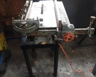 Vtg. Craftsman Tilt Top Table Saw