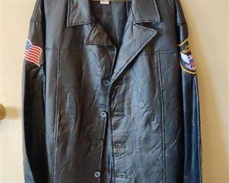 New Men's Leather Coat- XL