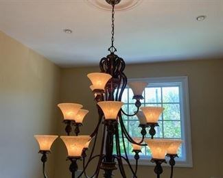 Great Chandler -  with matching wall sconces/homeowners will take it down for you