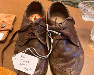 Vintage Child's Red Goose Shoes