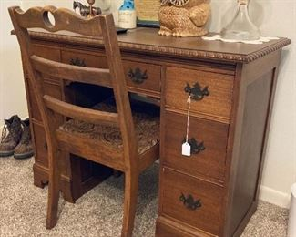 Antique Mahogany Desk and Chair